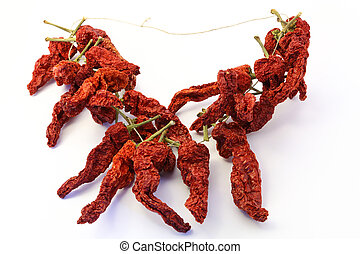 chaud, peppers!, piment, rouges