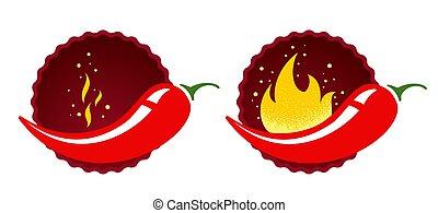 chaud, piment rouge