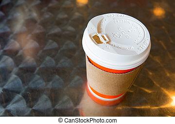 chaud, support, tasse à café