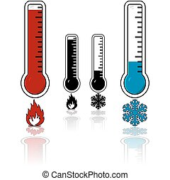 chaud, température, froid