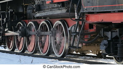 chaud, vapeur, locomotive