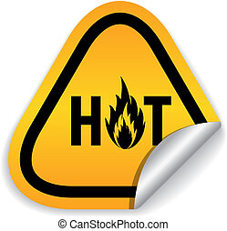 chaud, vecteur, autocollant, offre