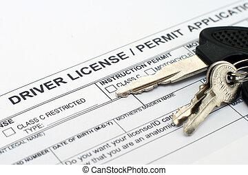 chaufför, ansökan, licens