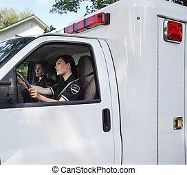 chauffør, ambulance