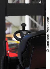 chauffeur, camion chariot élévateur fourche, siège