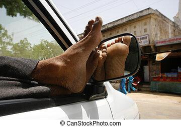 chauffeur de taxi