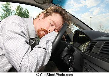 chauffeur, fatigué