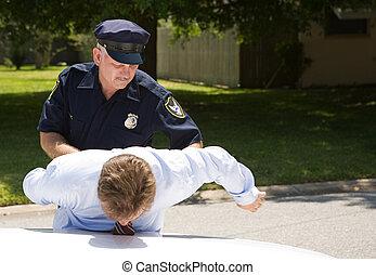 chauffeur, policier, prises