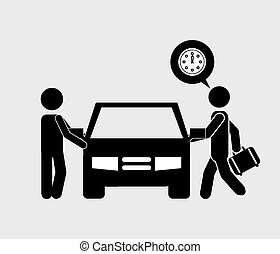chauffeur, voiture
