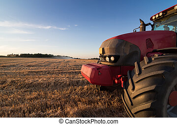 chaume, champ,  Agriculture, tracteur
