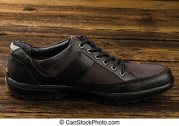 chaussure, combiné, homme