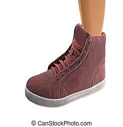 chaussure, femme, jambe