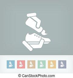 chaussure, nettoyage