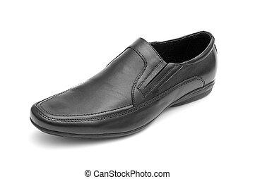 chaussure, noir, homme