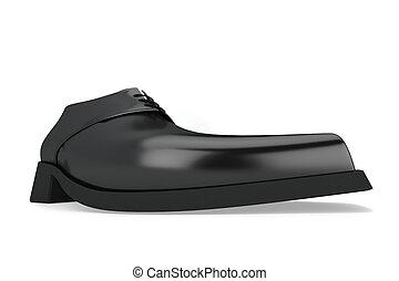 chaussure noire, homme