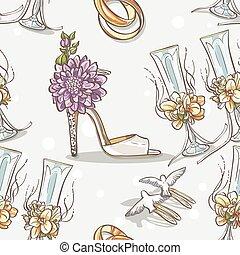chaussures, anneaux, seamless, texture, mariée, mariage, lunettes