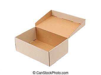 chaussures, boîte, est, localisé, sur, les, fond blanc