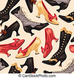 chaussures, bottes, seamless