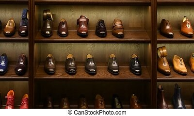 chaussures, boutique, magasin, hommes