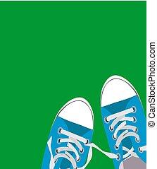 chaussures, couleur, illustration, vecteur, fond, paire