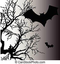 chauve-souris, vecteur, silhouette, illustration