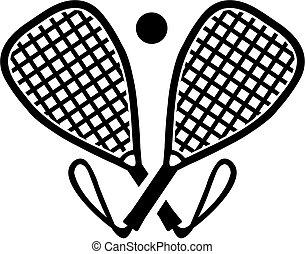 chauves-souris, traversé, racquetball
