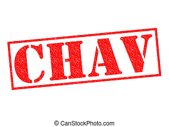 CHAV red Rubber Stamp over a white background.