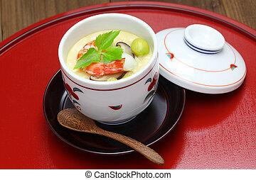 chawanmushi, huevo, japonés, natillas