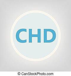 CHD (Congenital heart defect) acronym- vector illustration