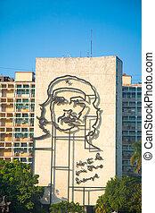 che, guevara, kép, előtt, forradalom, derékszögben, havanna