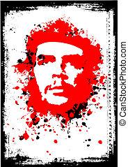 che guevara poster - illustration of the che guevara