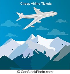 cheap airline tickets concept