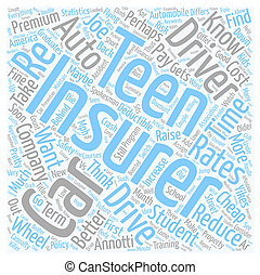 Cheap Auto Insurance For Your Teen Or Maybe Not text background wordcloud concept