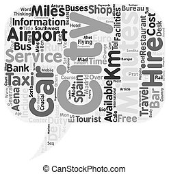 Cheap Car Hire In Spain text background wordcloud concept