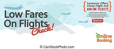 Cheap Flight For Sale Banner