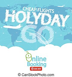 Cheap Flight For Sale Banner Vector