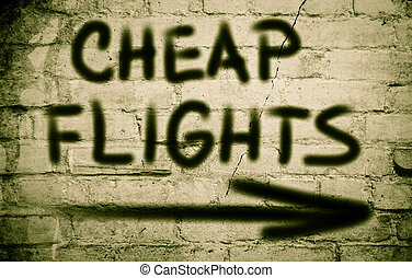 Cheap Flights Concept