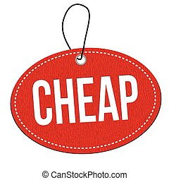 Cheap label or price tag