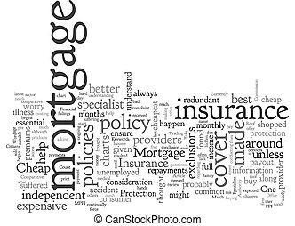 Cheap Mortgage Insurance Can Help You To Keep The Roof Over Your Head text background wordcloud concept