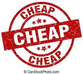 cheap round red grunge stamp
