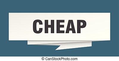 cheap sign. cheap paper origami speech bubble. cheap tag....