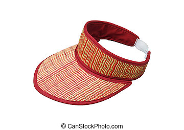 Cheap summer hat made of straw on white background, this have clipping paths