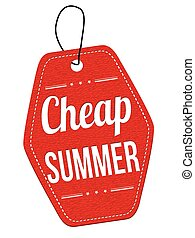 Cheap summer label or price tag