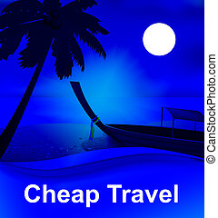 Cheap Travel Representing Low Cost Tours 3d Illustration
