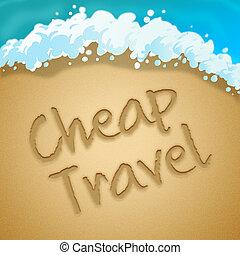 Cheap Travel Represents Low Cost Tours 3d Illustration