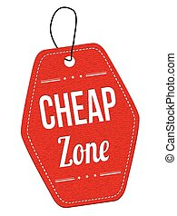 Cheap zone label or price tag