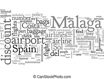 Cheapest Way To Travel To Malaga text background wordcloud concept