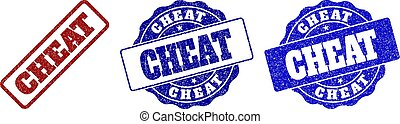 CHEAT Grunge Stamp Seals - CHEAT grunge stamp seals in red...