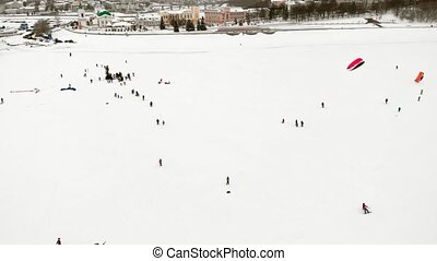 CHEBOKSARY, RUSSIA - DECEMBER 31, 2018: Athletes involved in...