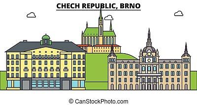 Chech Republic, Brno. City skyline, architecture, buildings,...